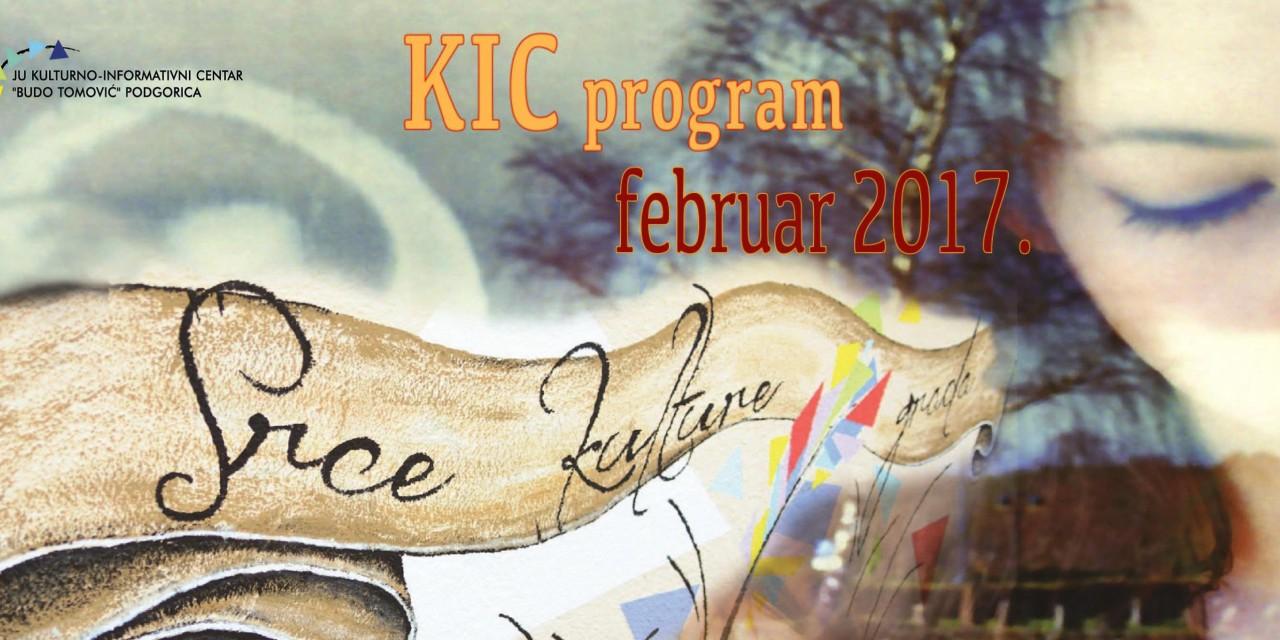"""KIC """"Budo Tomović""""- repertoar za februar"""