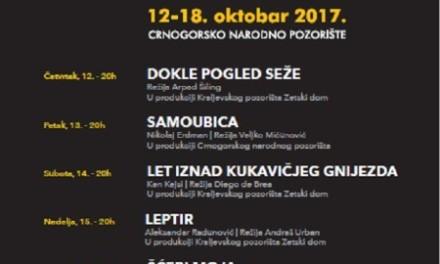 Bijenale crnogorskog teatra od 12. do 18. oktobra
